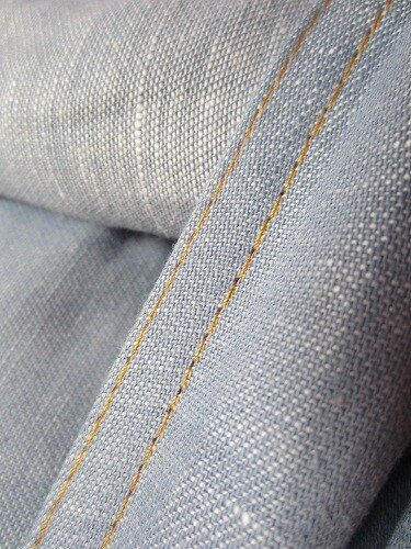 ByKay geweven katoen/linnen - Denim Stone Washed-6