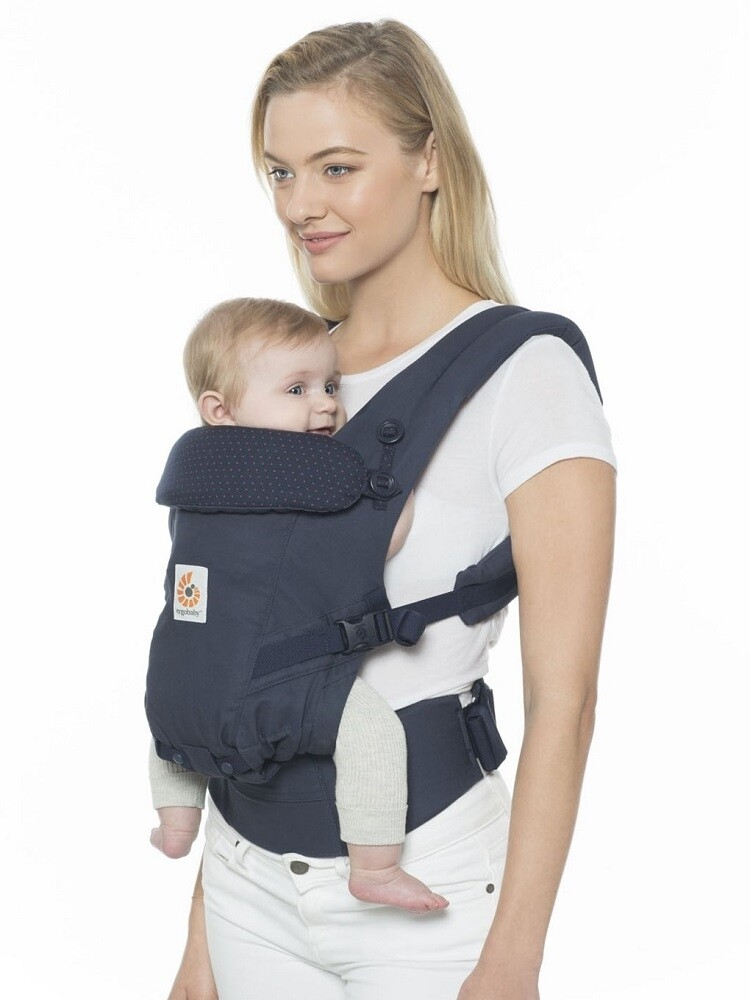Ergobaby Draagzak 3P Adapt Navy Mini Dots